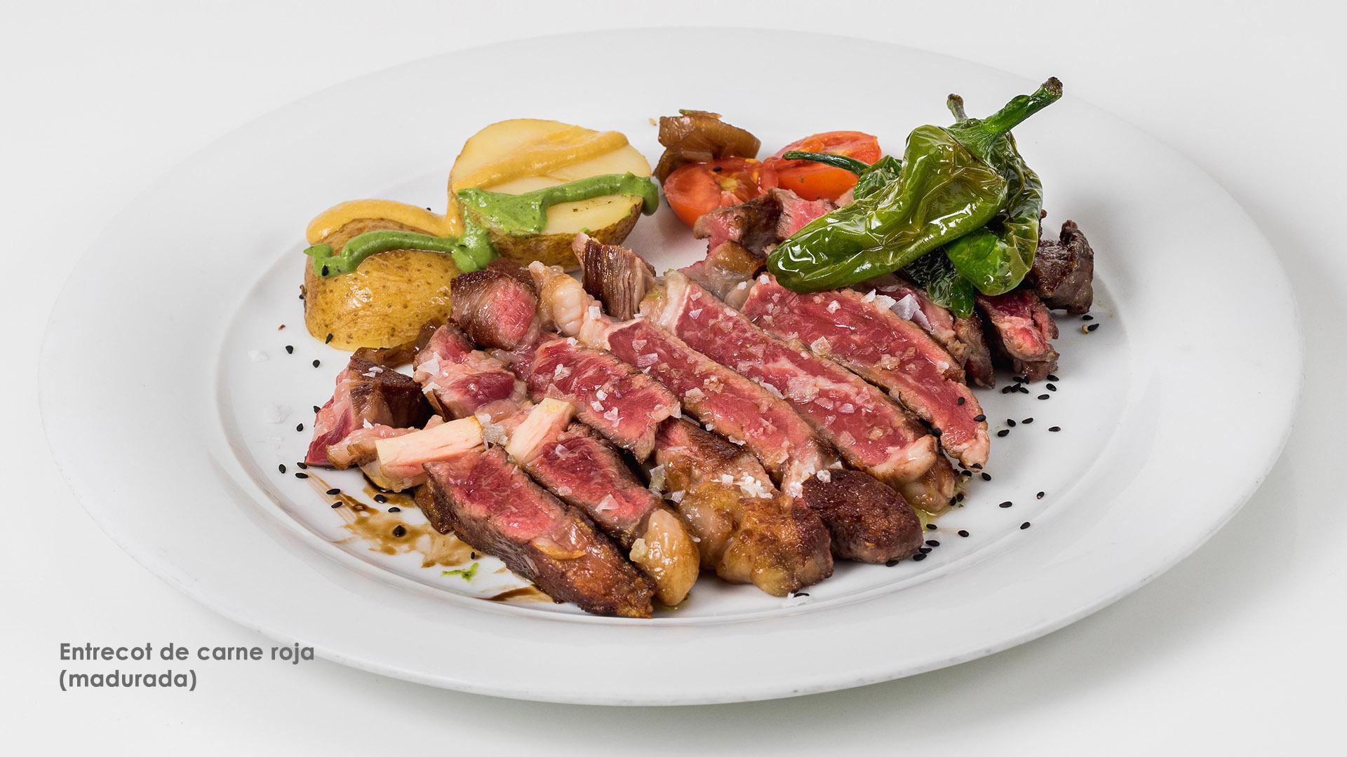 Entrecot de carne roja madurada