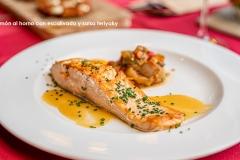 Salmón al horno con escalivada y salsa teriyaky 2