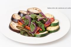Seleccion de verduras al carbon